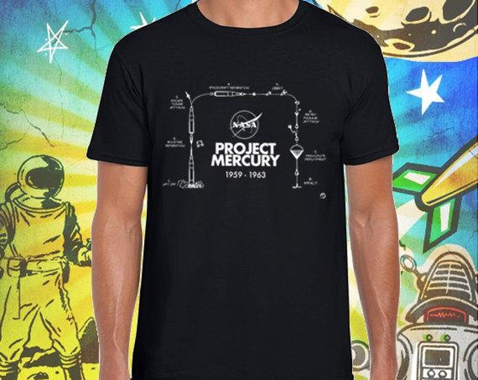 Project Mercury / Men's Black T-Shirt