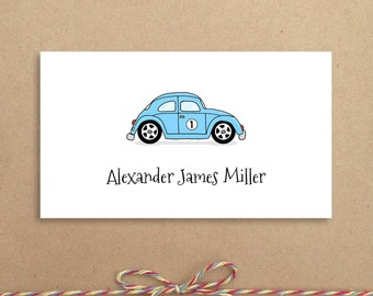 Blue Love Bug Calling Cards - Love Bug Gift Card - Personalized Calling Cards - Children's Calling Cards - Custom Calling Cards