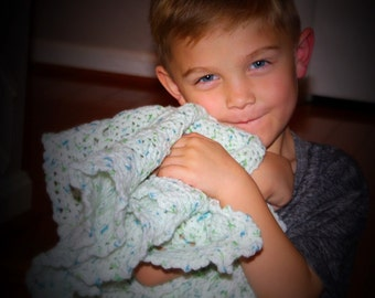 Baby Boy Receiving Blanket