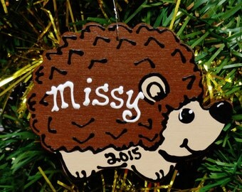 U CHOOSE Name and Year Personalized HEDGEHOG Christmas ORNAMENT Holiday Decor