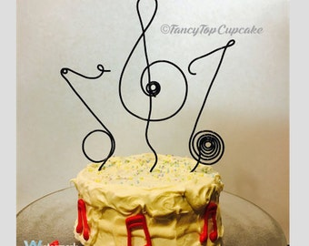 3 wire Music Cake Toppers made by FancyTop Cupcake