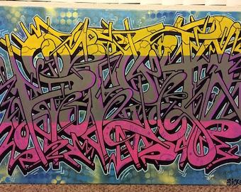 Sick1 graffiti canvas