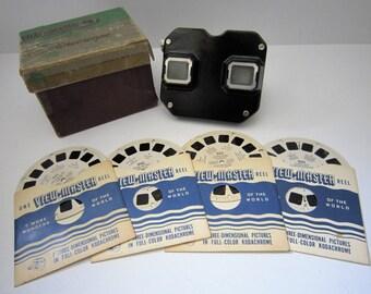 Vintage VIEWMASTER and 4 Vintage COWBOY STARS Reels ~ 945-950-955-960