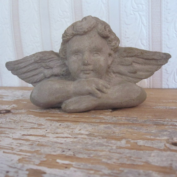 concrete windowsill cherub cast stone wall art home decor