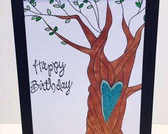 Happy Birthday Love Tree Card