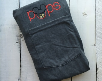 Classic Mickey Mouse POPS / Applique / Pocket Tee