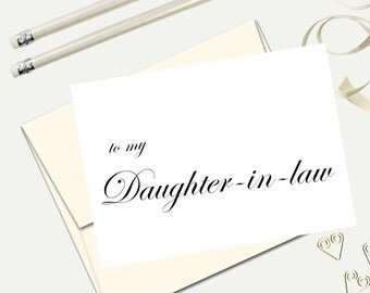 to my daughter in law wedding day card future daughter card on my wedding day card card from parents wedding card to my daughter in law