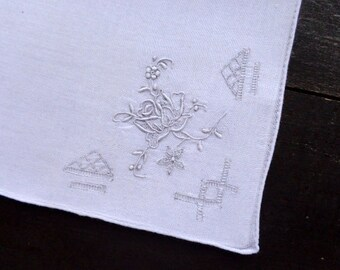 Vintage Swatow Lace Handkerchief