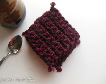 Crocheted Coasters, set of 4
