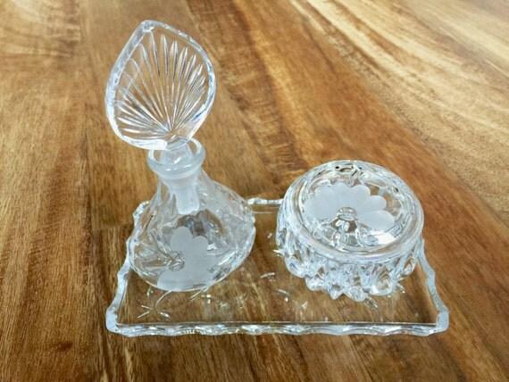 Vintage Perfume Set With Tray Perfume Set Princess Glass