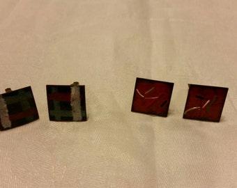 Enamel cufflinks
