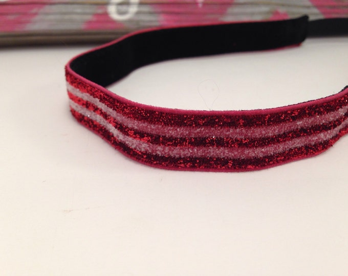 Skinny Sparkle Red & White Stripes