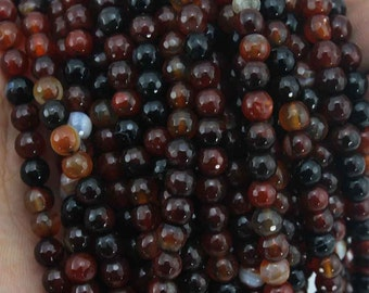 New beads 6mm Faceted Agate Beads One Full  Agate Beads Round beads wedding beads----about 60 Pieces---15-16 inches--NF044