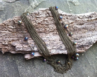 Multi-chain Bead Necklace