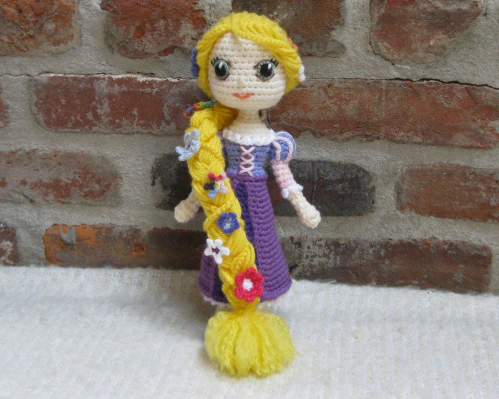 Rapunzel Amigurumi Crochet Doll finished plush doll