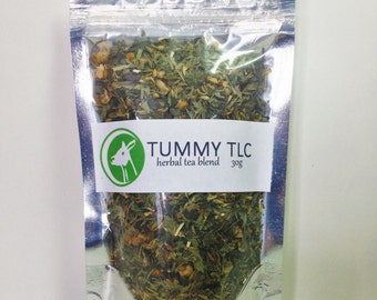 Tummy TLC herbal tea, handmade, natural, hand-cultivated herb tea, digestion, indigestion, upset stomach