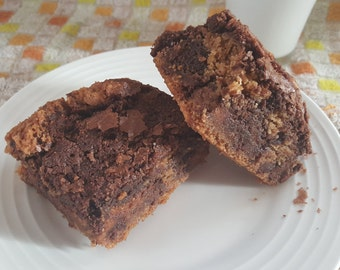 Chocolate Chip Peanut Butter Cup Brownies!! Gourmet