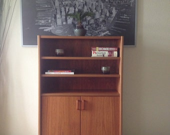 Authentic danish modern mid-century bookcase by UP