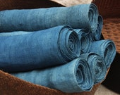 Hmong Hand Woven Indigo Hemp Fabric Vintage