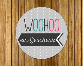 24 Aufkleber | WOOHOO | Recycling