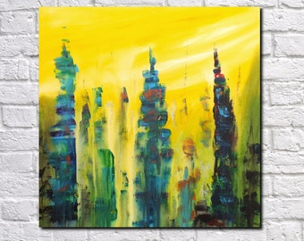 Abstract Print Modern Art Contemporary Abstract Architecture Art City Skyline Art Print James Lucas