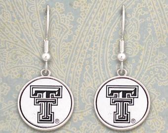 Texas Tech Red Raiders Medallion Earrings