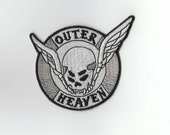 Outer Heaven Patch - Iron on Backing - Retro Design Featured in the original Metal Gear & The Ending Credits of MGSV