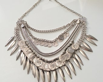 Pay Attention Statement Necklace,BIB Necklace