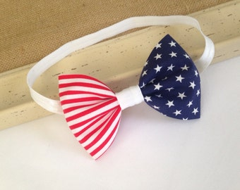 4th of July Headband - Patriotic Headband - Stars and Stripes - Red White and Blue - Fourth of July - Baby Headband - Headband