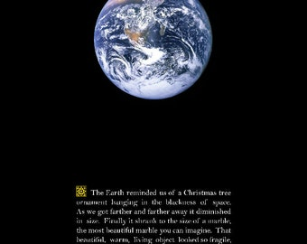 """Earth Photo, Space Photo, Earth from Space, The Universe, """"The Marble"""""""