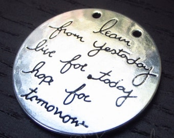 Live The Life You Love Charms - 2/5/10 Wholesale Inspirational Message Antiqued Silver Plated Connector Pendants C1525