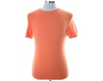 Lee Womens T-Shirt XL Orange Cotton