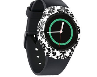 Skin Decal Wrap for Samsung Gear S2, S2 3G, Live, Neo S Smart Watch, Galaxy Gear Fit cover sticker Vintage Damask