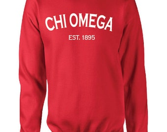Custom Chi Omega Classic Established Comfort Colors Tanks, Short Sleeves, Long Sleeves, and Sweatshirts