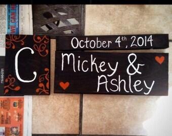 Wedding date & name