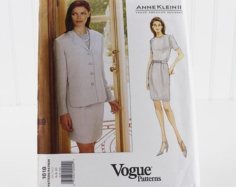 Vogue Jacket and Skirt Pattern, UNCUT Sewing Pattern, V1618, Size 6-10