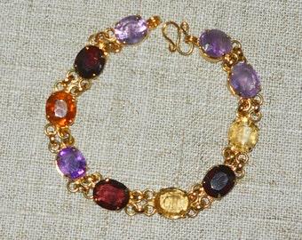Vintage multi gem bracelet