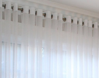 "Grommet Voile Drapery ""Hudson"", Window Sheers, Sheer Curtains, Drapes,  Made-to-Order"