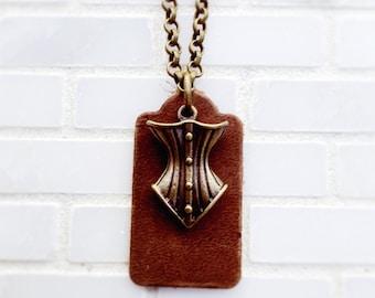 Steampunk Corest Essential Oil Diffuser Necklace, Aromatherapy Pendant