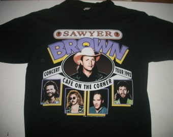 SAWYER BROWN tour t shirt 1992 (2)