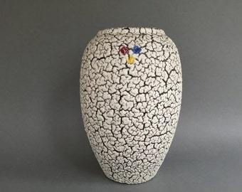 Jopeko   Fat Lava  vase , nice tall height 25 cm. heavy original 1960s WGP West Germany Pottery.