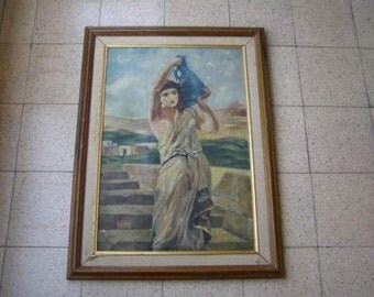 Marvelous vintage oil on board painting