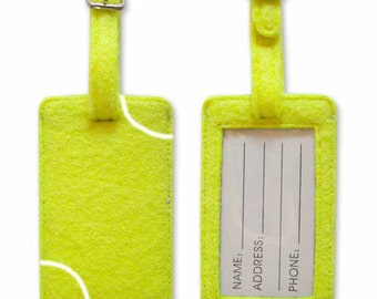 22 Tennis Ball Luggage Tag