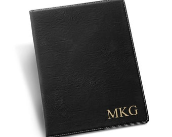 Personalized Black Portfolio - Black Portfolio - Gift For Her - Gift For Him - Executive Gifts