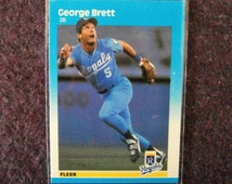 George Brett Fleer Baseball Card 1987 Mint 366 MLB