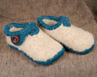 Woven felt toddler slippers