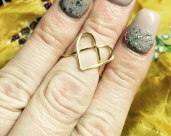 Heart Midi Wire Ring