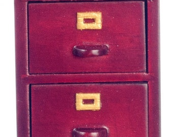 Dollhouse Miniature 1:12 Scale 2-drawer File Cabinet #T3562A-T6562A