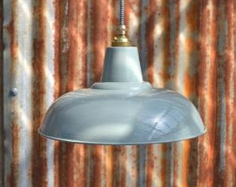 Retro style French grey/green light pendant hanging lightshade lamp shade ceiling light FG1G3
