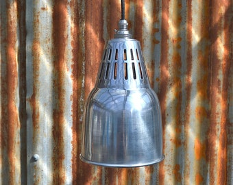 Urban chic polished metal hanging vented light pendant shade ceiling lamp UCPSR4